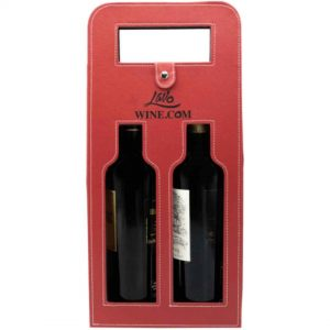 PU Leather Wine Bag (Red)