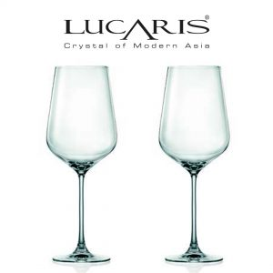 Lucaris Hong Kong Hip Collection Bordeaux Red Wine Glass 2pcs