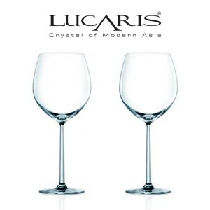 Lucaris Shanghai Soul Collection Burgundy Wine Glass 2pcs